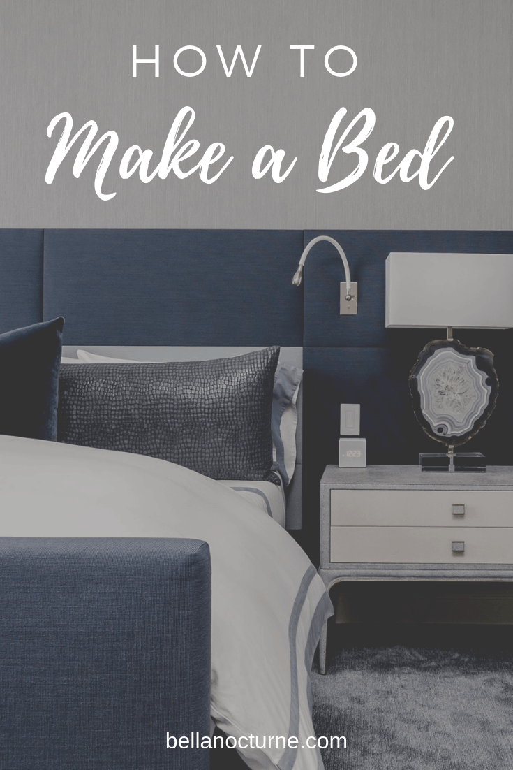 We all love a good night's sleep and a comfy bed. The sad thing is that most people forget to make their bed after waking up.  Learn how to make your bed perfectly every time. #bed #bedroom #sleep